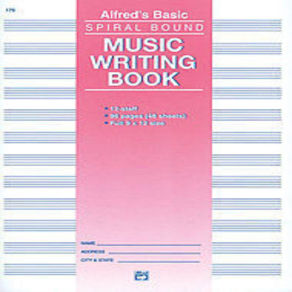 12 Stave Music Writing Book (9