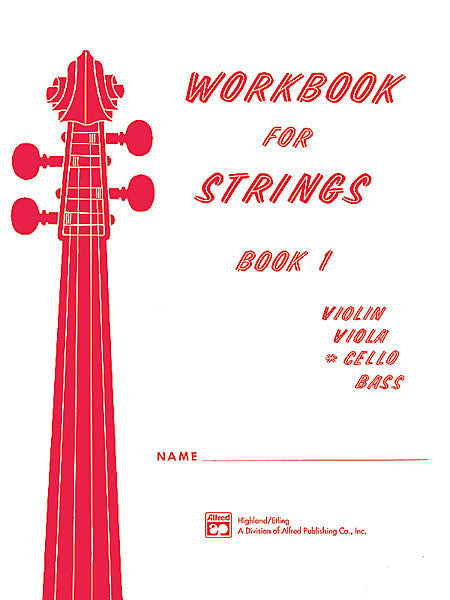Workbook for Strings, Book 1 - Cello