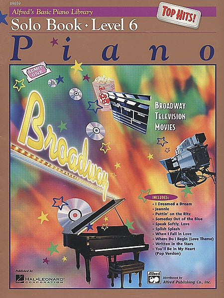 Alfred's Basic Piano Course: Top Hits! Solo Book 6