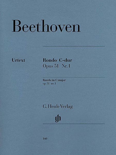 Beethoven - Rondo in C Major Op. 51, No. 1 (ed. Otto von Irmer, fing. Walther Lampe) Henle Music Folios