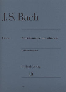 J. S. Bach - Two Part Inventions BWV 772-786 (ed. Rudolf Steglich, fing. Hans-Martin Theopold) THIS VERSION IS NO LONGER AVAILABLE SEE HN 591