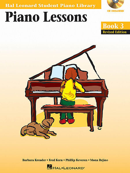 Piano Lessons Book 3 - Book/Enhanced CD Pack Hal Leonard Student Piano Library