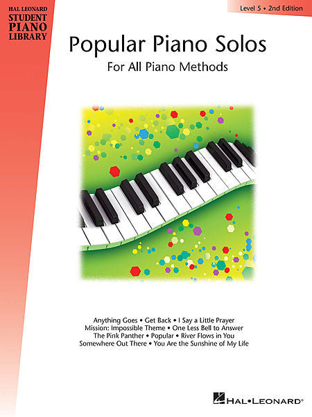 Popular Piano Solos - Level 5 Hal Leonard Student Piano Library Educational Piano Library Book Only
