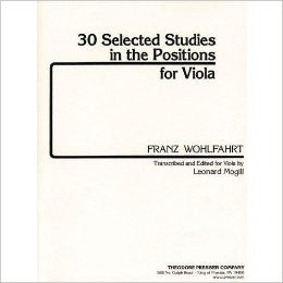 30 Selected Studies In The Positions for Viola - Franz Wohlfahrt Leonard Mogill