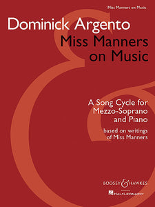 Miss Manners on Music A Song Cycle for Mezzo-Soprano and Piano Boosey & Hawkes Voice