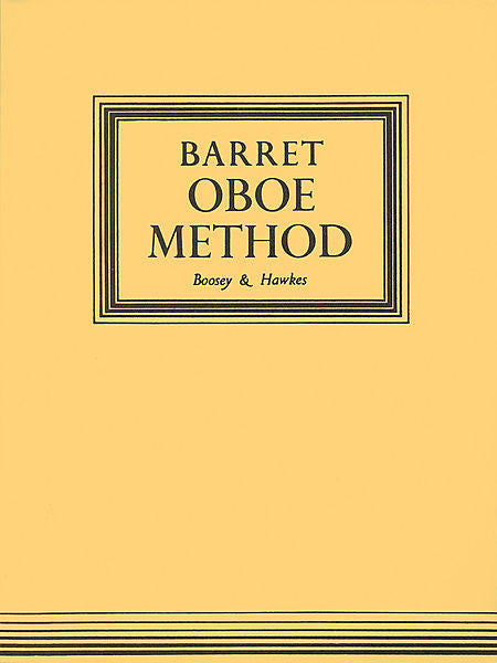 Barret - Oboe Method, Original Edition