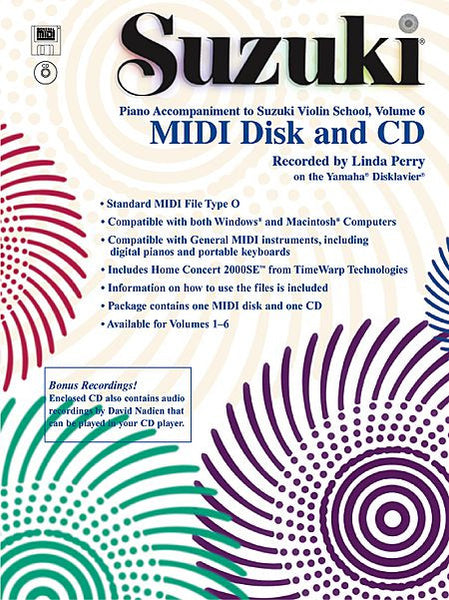 Suzuki Violin School MIDI Disk Acc./CD-ROM, Volume 6