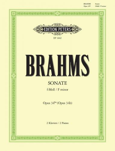 Brahms - Sonata in F minor Opus 34 bis - Transcr. Brahms Orig. Piano Quintet - Piano Ensemble (2 Pianos 4 Hands)