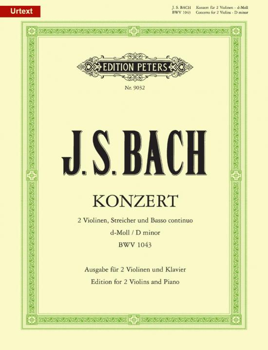 Bach - Concerto in D minor, BWV 1043 ed. David Oistrakh & Wilhelm Weismann - Violin Ensemble Duet: Two (2) Violins & Piano - Score & Parts