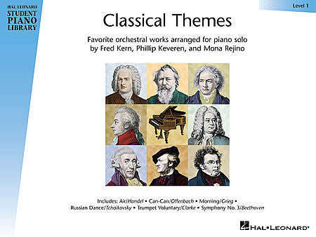 Classical Themes - Level 1 Hal Leonard Student Piano Library arranged by Fred Kern, Phillip Keveren and Mona Rejino Educational Piano Library Book