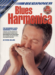 Progressive Beginner Blues Harmonica BK/CD/DVD - Peter Gelling