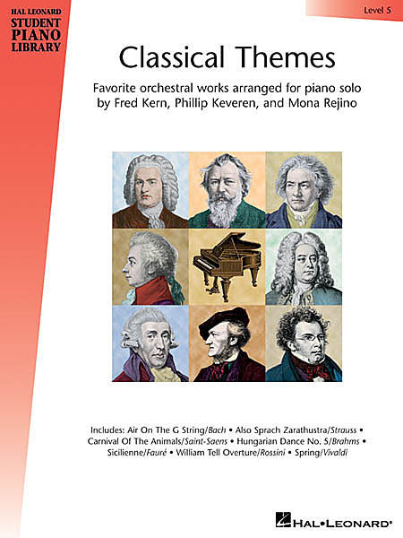 Classical Themes - Level 5 Hal Leonard Student Piano Library arranged by Fred Kern, Phillip Keveren and Mona Rejino Educational Piano Library Book