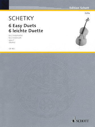 Schetky, Johann Georg Christoph - Six (6) Easy Duets, Opus 7 ed. Rainer Mohrs - Violoncello [Cello] Ensemble Duet: Two (2) Cellos - Score Only