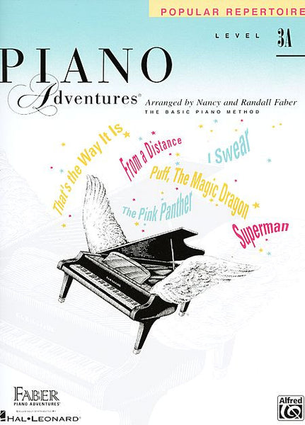 Level 3A - Popular Repertoire Book Piano Adventures Faber Piano Adventures Popular Repertoire Book