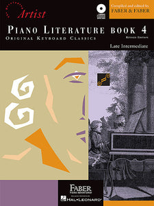 Piano Literature - Book 4 Developing Artist Original Keyboard Classics compiled by Faber & Faber Faber Piano Adventures Book/CD Pack