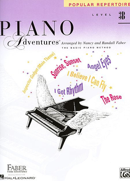 Level 3B - Popular Repertoire Book Piano Adventures Faber Piano Adventures Popular Repertoire Book