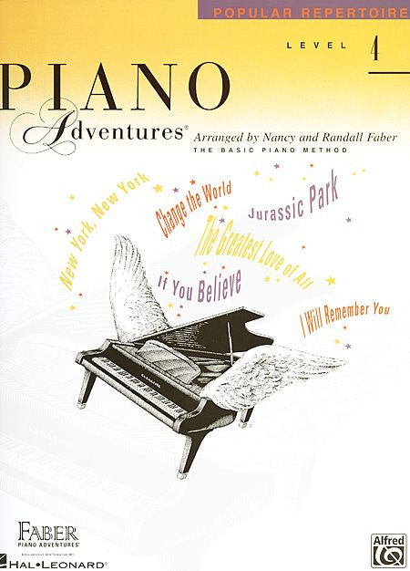 Level 4 - Popular Repertoire Book Piano Adventures Faber Piano Adventures Popular Repertoire Book
