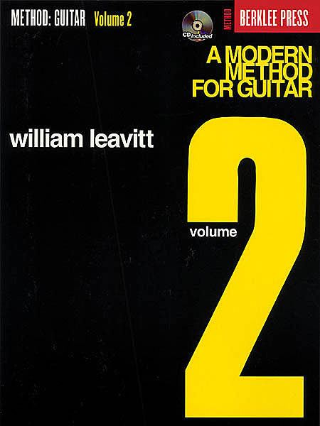 A Modern Method for Guitar - Volume 2 by William Leavitt Berklee Press Book/CD Pack