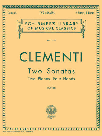 Clementi - Two Sonatas (in B-Flat) - Piano Ensemble (2 Pianos 4 Hands)