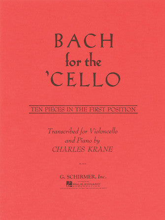 Bach for the Cello - Ten (10) Pieces in the First (1st) Position transcr. Charles Krane - Cello & Piano