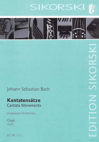 Bach - Four (4) Cantata Movements arr. Friedemann Winklhofer - Organ Solo