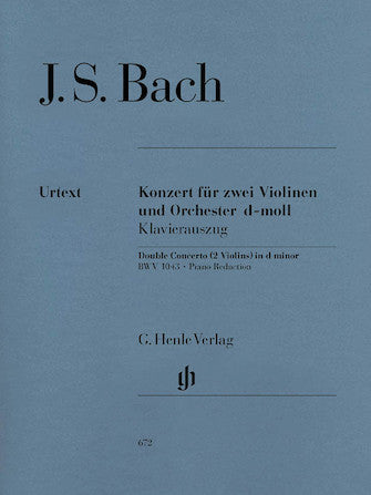 Bach - Concerto in D minor, BWV 1043 ed. Hans Eppstein - Violin Ensemble Duet: Two (2) Violins & Piano - Score & Parts