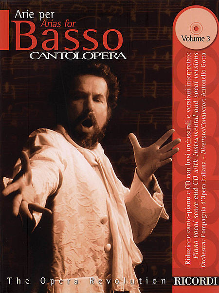 Arias for Bass Volume 3 Cantolopera Series Vocal Book/CD Pack