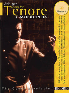 Arias for Tenor Volume 4 Cantolopera Series Vocal Book/CD Pack