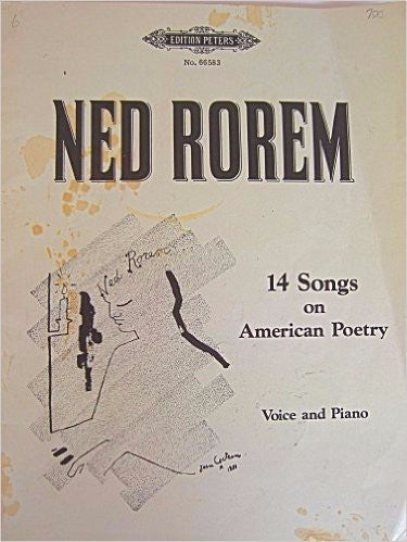 14 Songs on American Poetry - Rorem, Ned - Voice and Piano