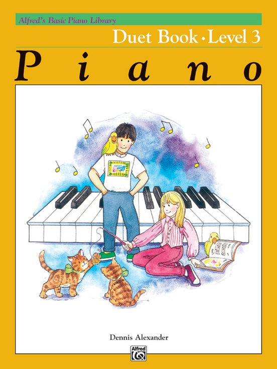 Alfred's Basic Piano Library - Duet Book Level 3 - Piano Duet (1 Piano 4 Hands)