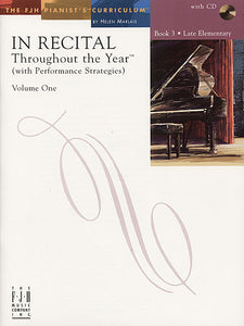 In Recital Throughout the Year (with Performance Strategies) Volume One, Book 3 - various - Piano Book