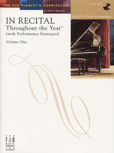 In Recital Throughout the Year (with Performance Strategies) Volume One, Book 4 - various - Piano Book