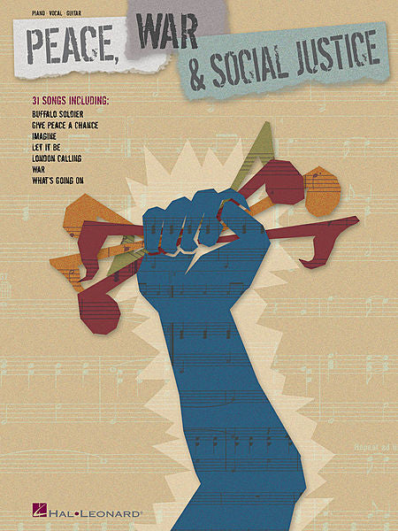 Peace, War & Social Justice Piano/Vocal/Guitar Songbook P/V/G