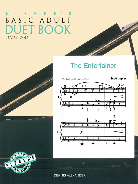 Alfred's Basic Adult Piano Course - Duet Book Level 1 - Piano Duet (1 Piano 4 Hands)