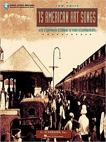 15 More American Art Songs, Low Voice Book/CD