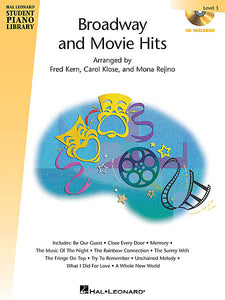 Broadway and Movie Hits - Level 3 - Book/CD Pack Hal Leonard Student Piano Library arranged by Fred Kern, Carol Klose, Mona Rejino Educational Piano Library Book/CD Pack
