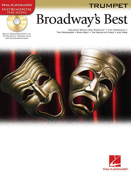Broadway's Best for Trumpet Book/CD Packs Instrumental Folio Trumpet