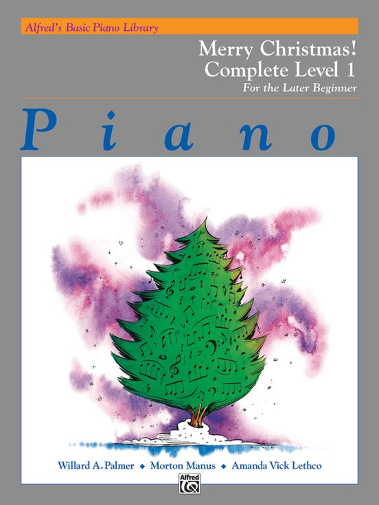 XMAS - Alfred's Basic Piano Library: Merry Christmas! Complete Book 1 (1A/1B) For The Late Beginner - Piano Solo Collection