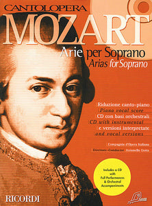 Mozart Arias for Soprano Voice and Piano Vocal Book/CD Pack