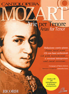 Mozart Arias for Tenor Voice and Piano Vocal Book/CD Pack