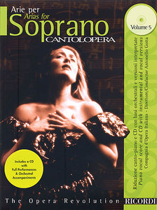 Arias for Soprano - Volume 5 Cantolopera Series Vocal Book/CD Pack