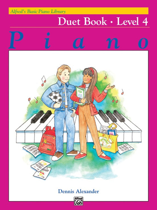 Alfred's Basic Piano Library - Duet Book Level 4 - Piano Duet (1 Piano 4 Hands)