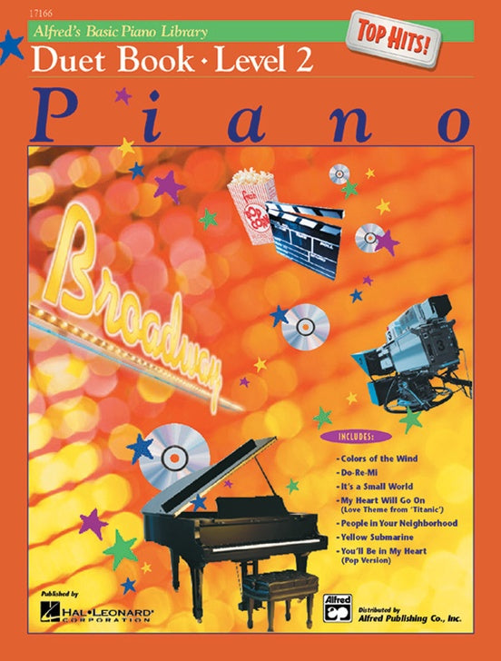 Alfred's Basic Piano Library - Top Hits! Duet Book 2 - Piano Duet (1 Piano 4 Hands)