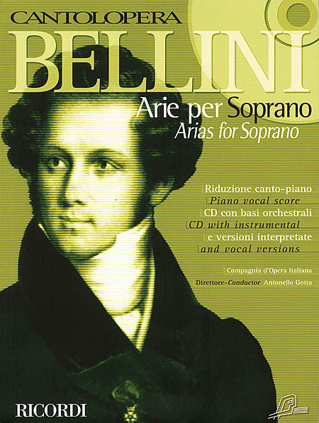 Bellini Arias for Soprano Cantolopera Series Vocal Book/CD Pack