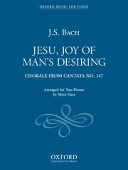 Bach - Jesu, Joy of Man's Desiring (Chorale from Cantata No. 147) arr. Myra Hess - Early Advanced - Piano Ensemble (2 Pianos 4 Hands)