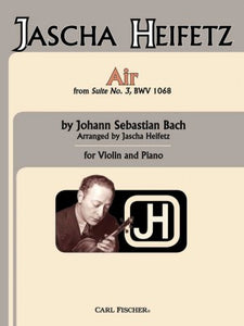 Bach - Air From Suite No. 3, Bwv 1068 arr. Jascha Heifetz - Violin & Piano