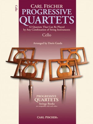 Progressive Quartets for Strings - 32 Quartets that can be played by Any Combination of String Instruments - Violoncello [Cello] Ensemble Quartet: Four (4) Cellos - Score Only