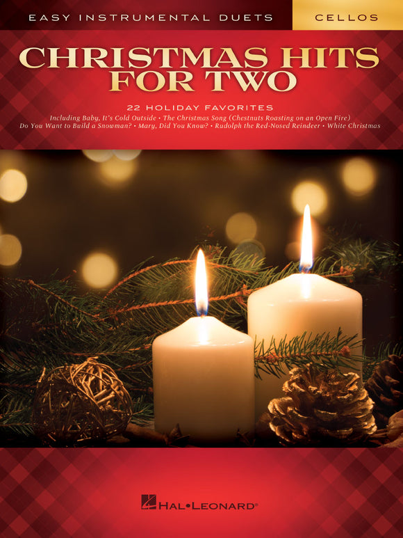 XMAS - Christmas Hits for Two - 22 Easy Holiday Favorites - Violoncello [Cello] Ensemble Duet: Two (2) Cellos - Score Only