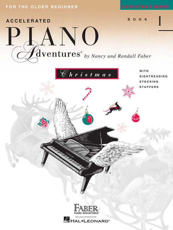 XMAS - Faber Piano Adventures: Accelerated for the Older Beginner, Christmas Book 1 - Piano Solo Collection