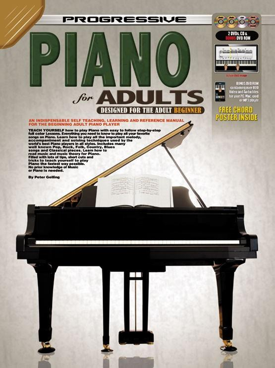 Gelling, Peter - Progressive Piano for Adults: Designed for the Adult Beginner - Piano Method Volume w/CD & 3 DVDs*